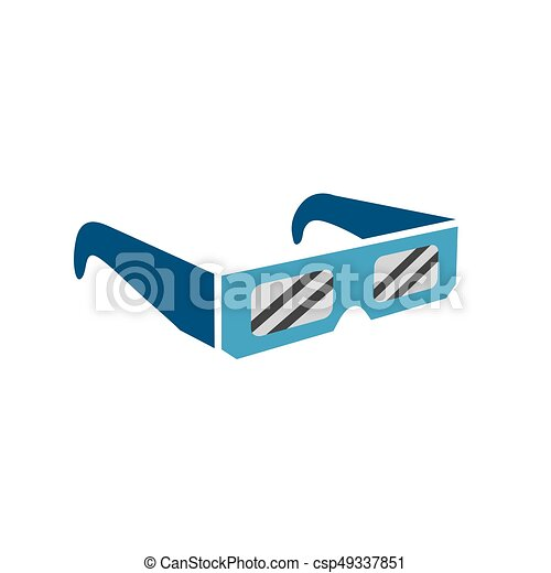 Eclipse glasses - safely viewing the total solar eclipse - csp49337851