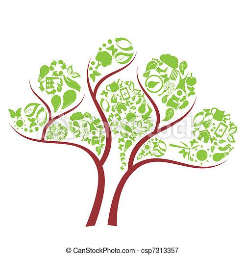 Árbol ecológico verde - csp7313357