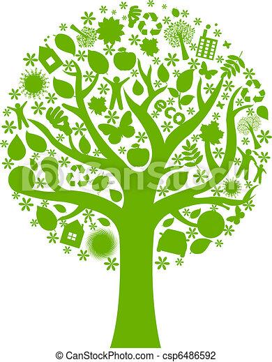 eco, árvore - csp6486592
