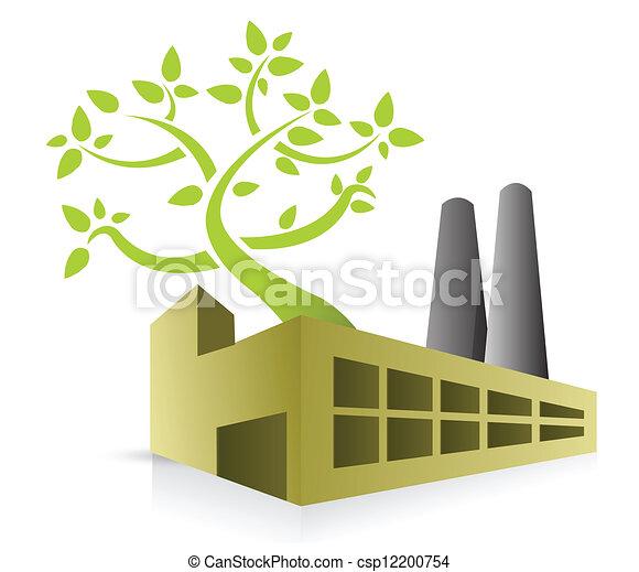 eco, énergie, usine - csp12200754