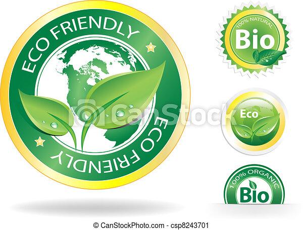 eco, étiquettes - csp8243701
