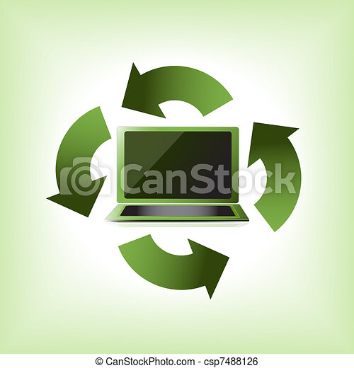 eco, ηλεκτρονικός υπολογιστής , πράσινο  - csp7488126