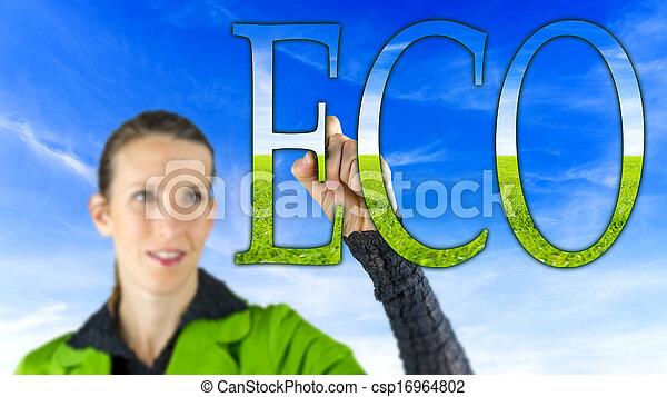 eco, σήμα  - csp16964802