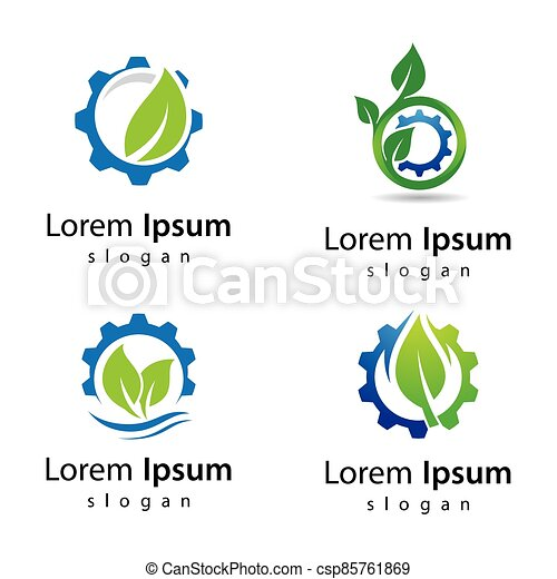 eco, ロゴ, デザイン, 技術 - csp85761869