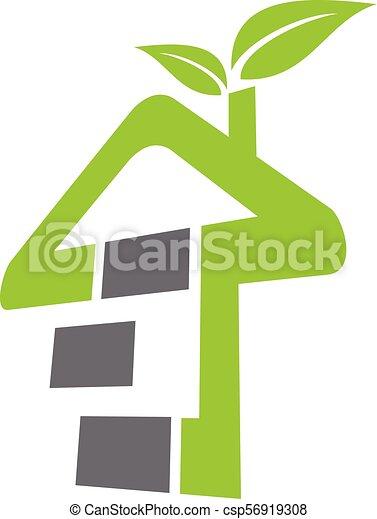 eco, 住宅建築 - csp56919308