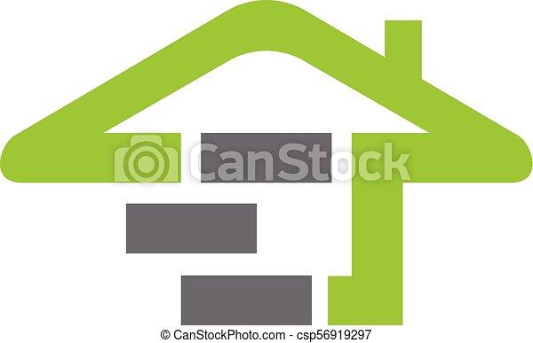 eco, 住宅建築 - csp56919297