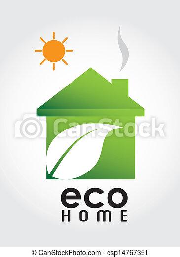 eco, 家 - csp14767351