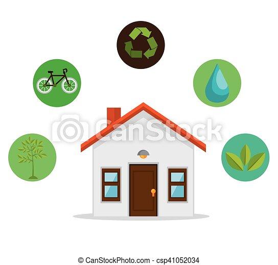 eco, 家, デザイン, 味方, 環境 - csp41052034