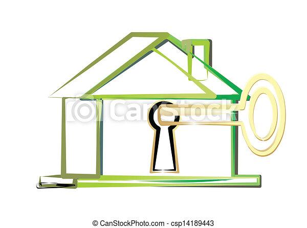 eco, 家 - csp14189443