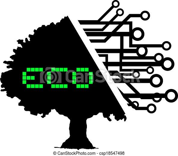 eco, 木 - csp18547498
