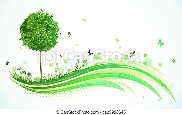 eco, 緑の背景 - csp3928645