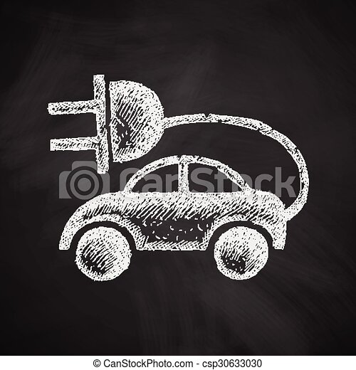 eco, 自動車, アイコン - csp30633030