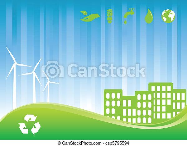 eco, 都市, 緑 - csp5795594