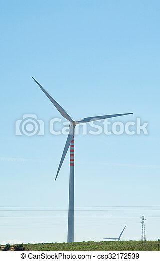 eco, 風エネルギー, 源, タービン, 回復可能, 力 - csp32172539