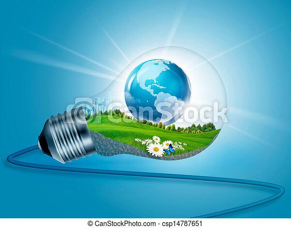 eco, 에너지, 배경, 내부., 요약 디자인, 너의 - csp14787651