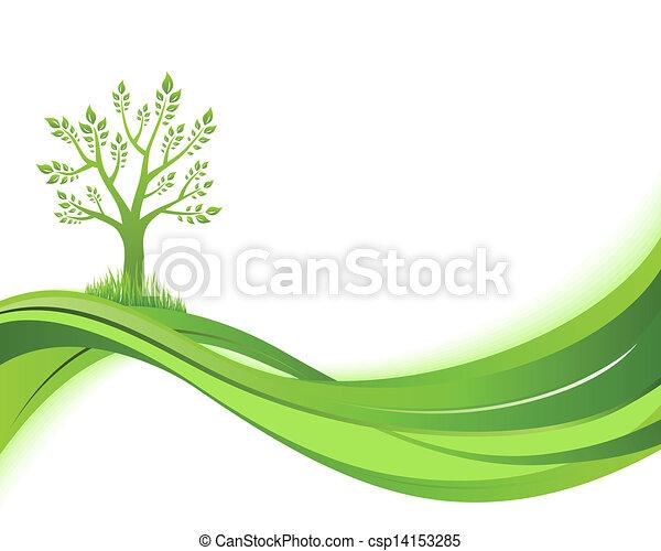 eco, abbildung, grün, hintergrund., natur, begriff - csp14153285