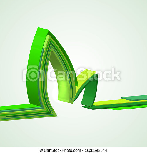 eco abstract background. Vector illustration - csp8592544