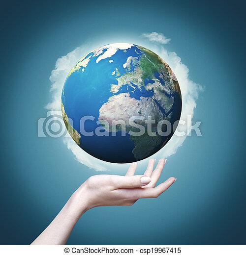 eco, abstrakcyjny, tła, projektować, nasz, świat, siła robocza, twój - csp19967415