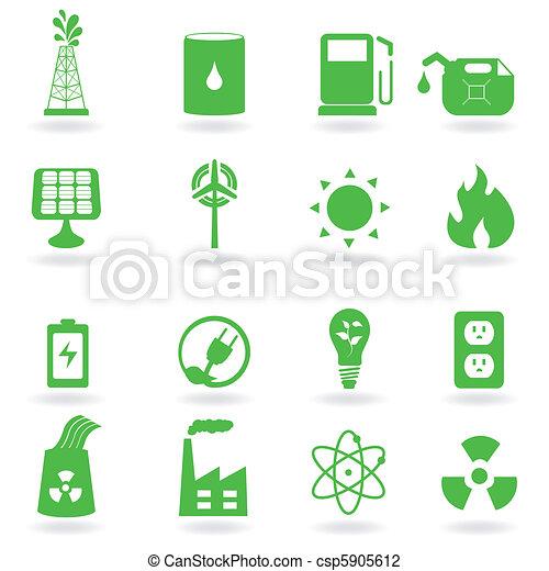 eco, ambiente, icone - csp5905612