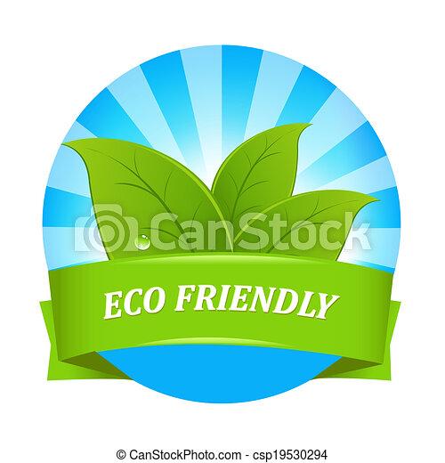 eco, amical, étiquette - csp19530294