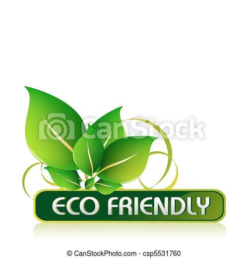 eco, amical, icône - csp5531760
