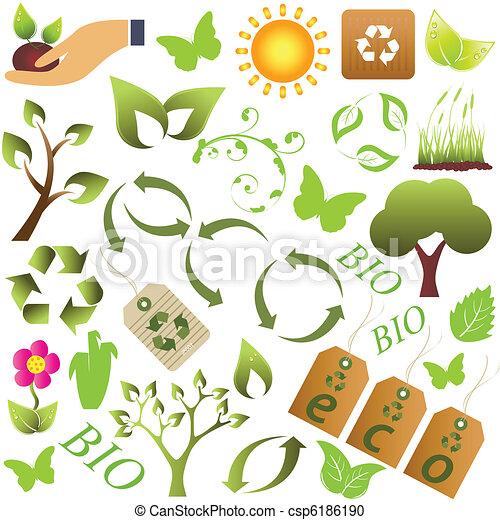 Eco and environment symbols - csp6186190