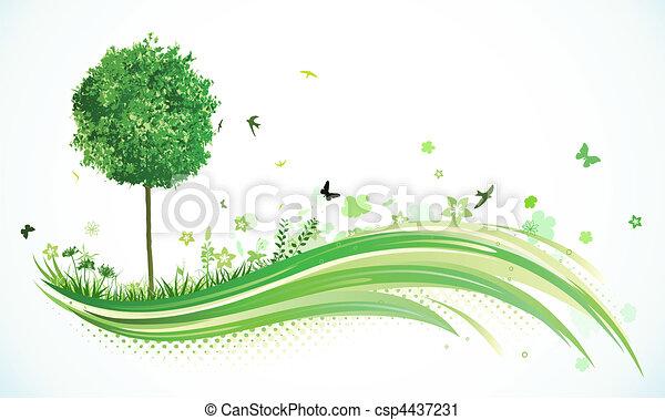eco, arrière-plan vert - csp4437231