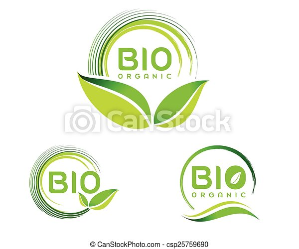 eco, bio, ロゴ, アイコン - csp25759690