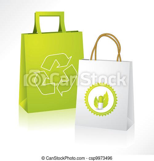 eco, bio, paperbags - csp9973496
