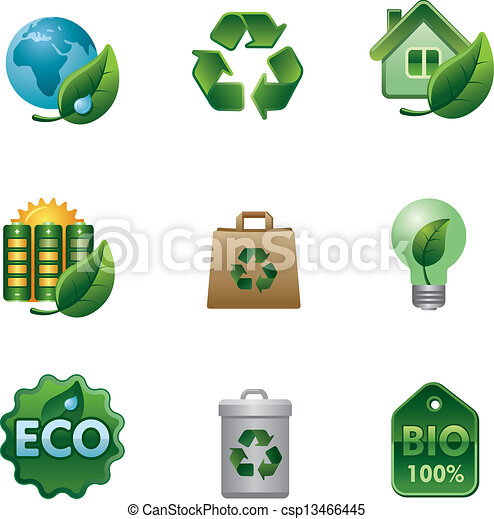 eco, bio, set, pictogram - csp13466445