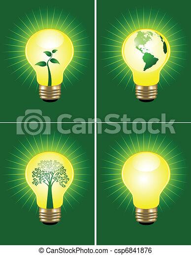 Eco bulb collection - csp6841876