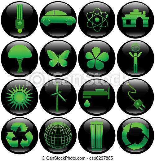 Eco button set - csp6237885