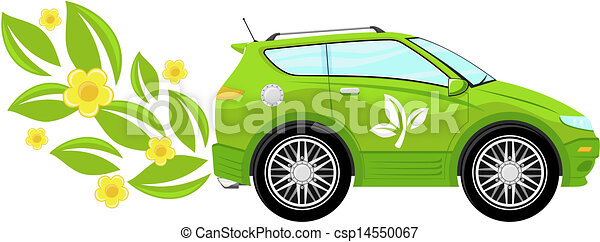 eco car vector illustration - csp14550067