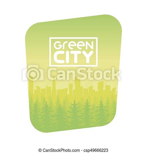 Diseño de fondos de la ciudad eco verde - csp49666223