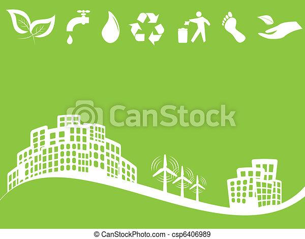 Ciudad verde ecológica - csp6406989