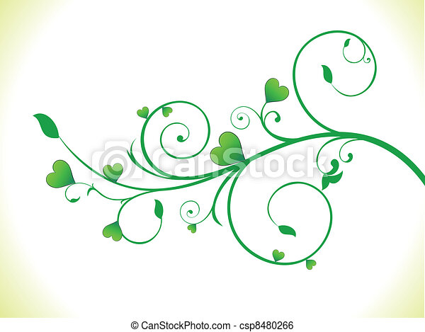 eco coeur r sum plante verte coeur plante eco r sum illustration vecteur vert. Black Bedroom Furniture Sets. Home Design Ideas