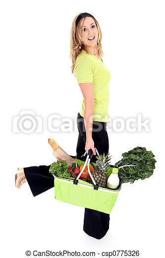 eco, consumatore, amichevole, acquirente, o - csp0775326