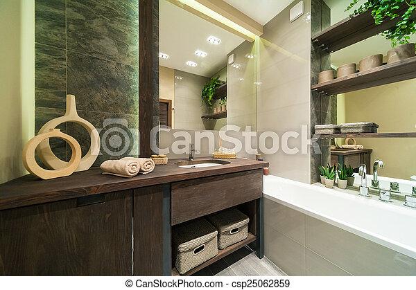 eco, cuarto de baño, estilo