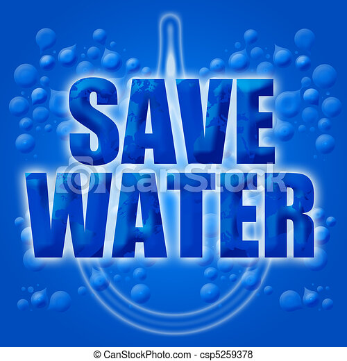 Eco Earth Friendly Save Conserve Water - csp5259378