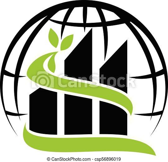 Solución del edificio ecológico global - csp56896019