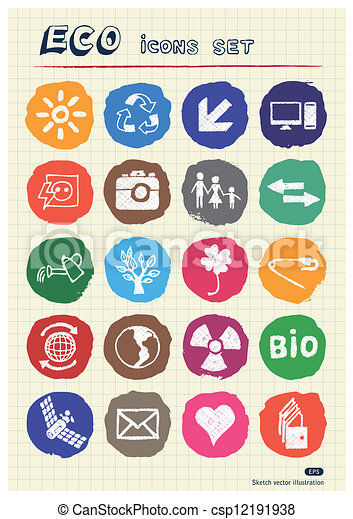 Eco elements and environment icons - csp12191938