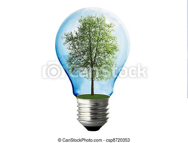 eco energy lamp on white - csp8720353