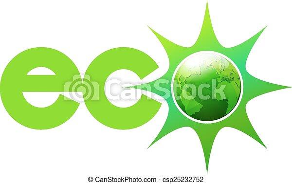 Eco Energy World Icon Symbol - csp25232752