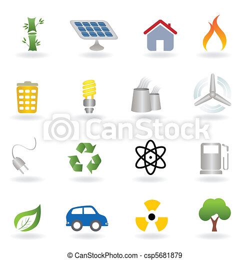 eco, environnement, icônes - csp5681879