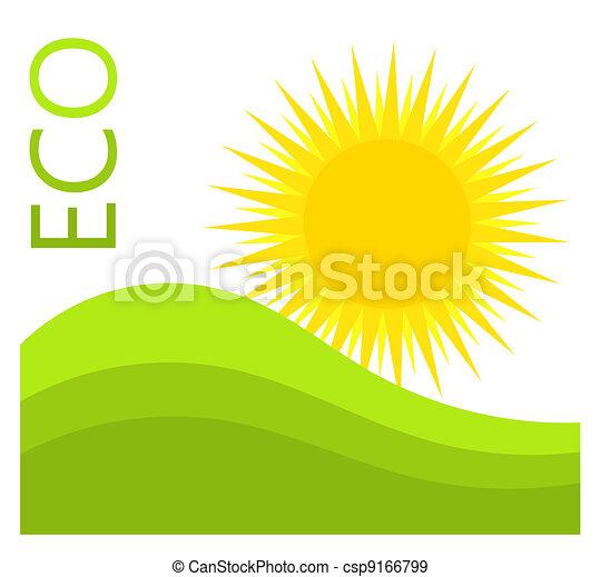 eco, etiket - csp9166799
