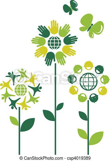 Eco flowers - 1 - csp4019389