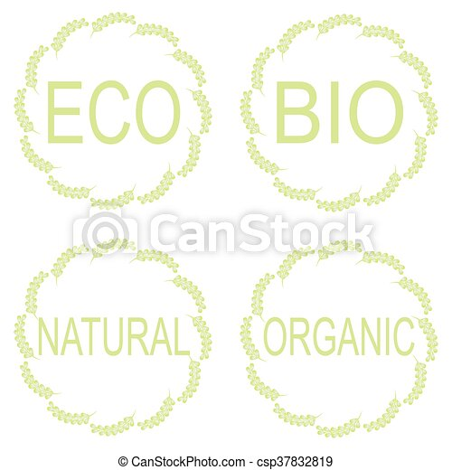 Eco Food Labels. - csp37832819