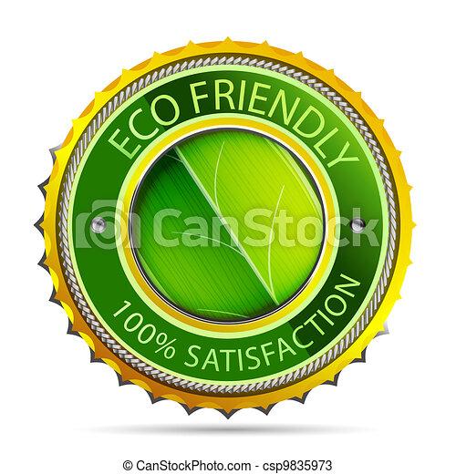 Eco friendly gold icon - csp9835973
