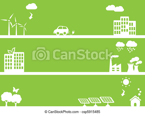 Eco friendly green towns - csp5915485