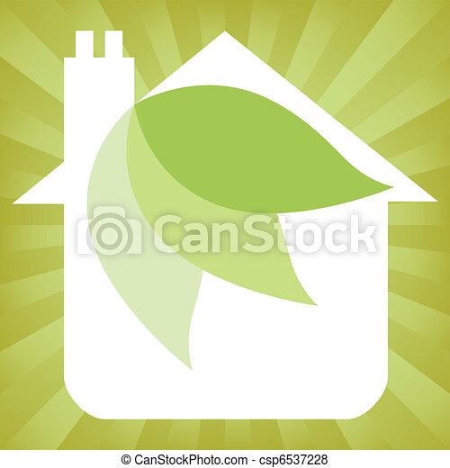 Eco friendly house design.  - csp6537228